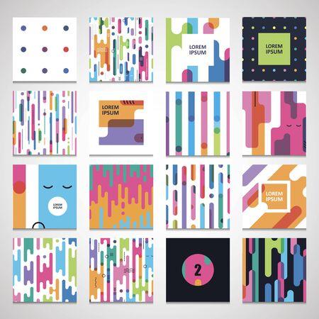 Set twelve seamless a pattern templates for modern bright design Illustration