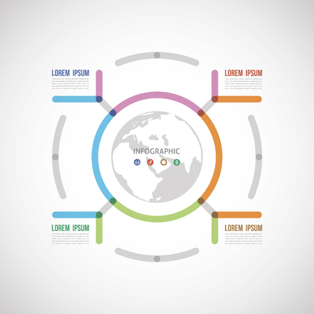 circle the infographic report about the template made of thick lines four options
