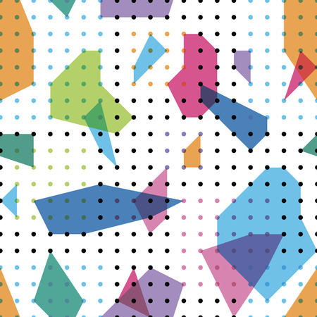 abstract figures bright seamless pattern Illustration