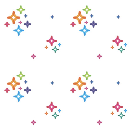 seamless pattern abstract elements Illustration