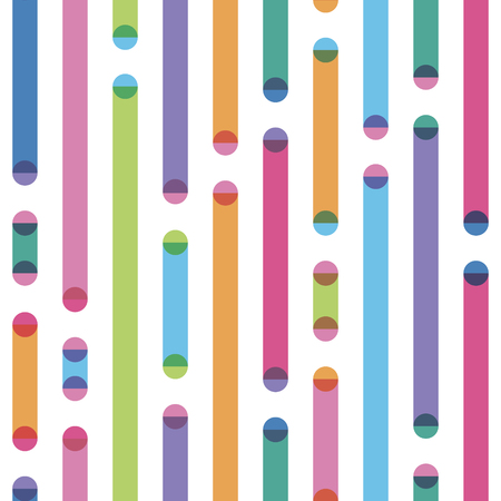 bright geometrical seamless pattern with effect of transparency a stick and a circle