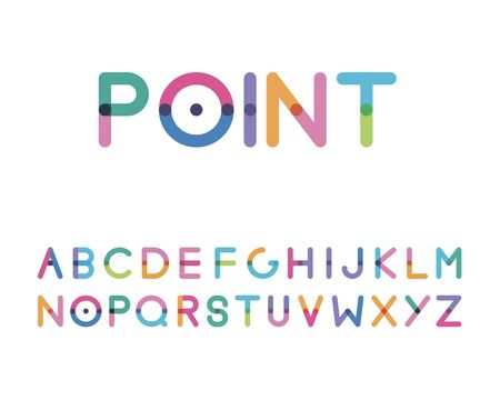 Font with a bright point in the center capital letter