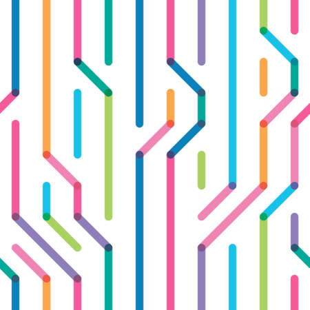 the color broken lines which are randomly located a seamless pattern Illustration