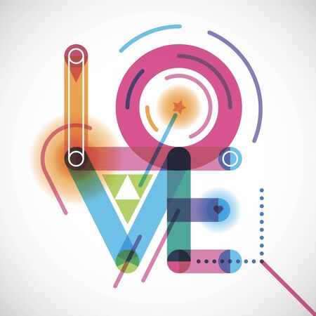 Abstract love poster design.