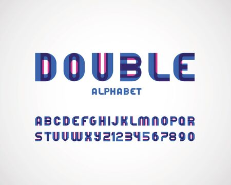modern double font 向量圖像