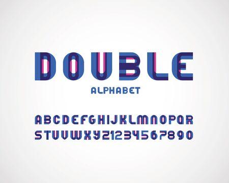 modern double font Illustration