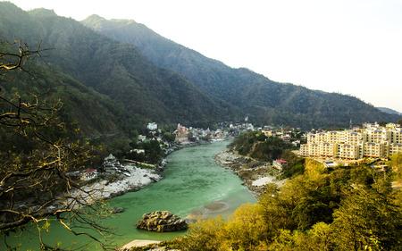 View to Ganga river, India, Rishikesh, the world capital of yoga