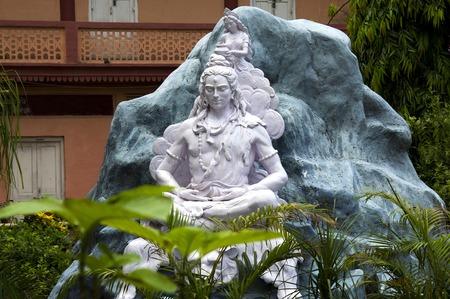 Statue of Hindu Lord Shiva, Rishikesh. India Stock Photo