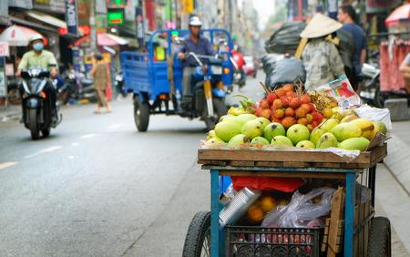 fruit in Vietnamese street in Ho Chi Minh city, Vietnam