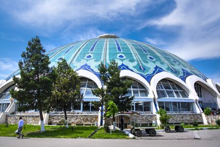 Tashkent Chorsu bazaar or Eski Juva bazaar - one of the main city landmarks. The translation of the word written in uzbek language above the entrance is restroom.