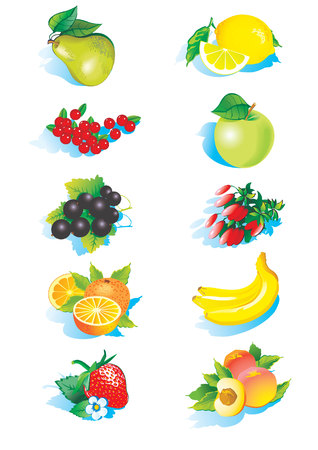 fruited: various fruits