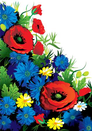 illustration de vecteurs de fleurs