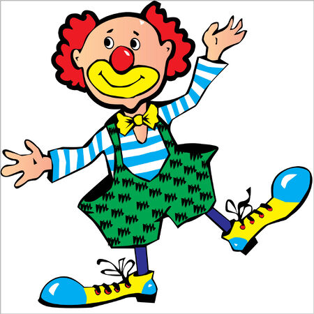 Funny red-haired clown.