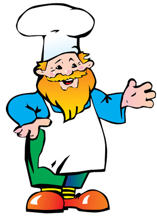 Good cook on white background. Vector