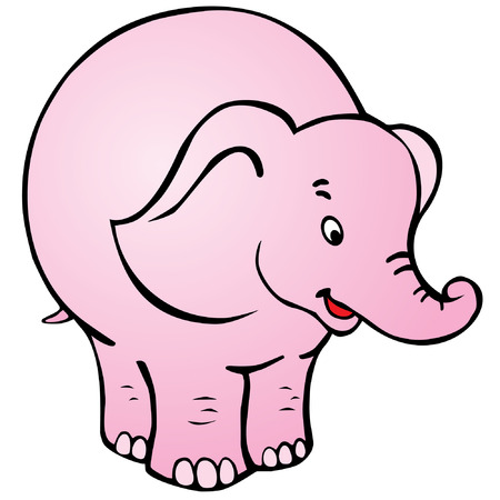 Good circus elephant on white background. Vector