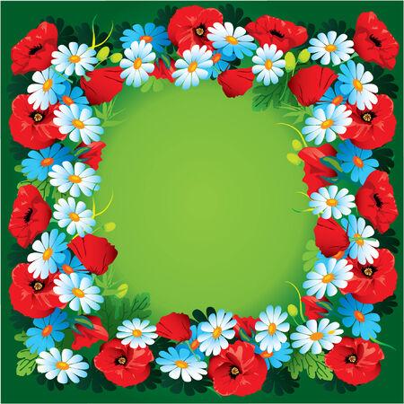 Flowers vector frame Vector
