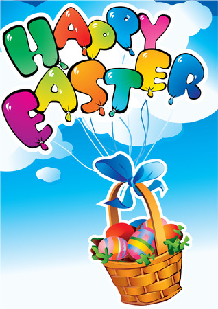 Easter postcard. Happy easter. Vector