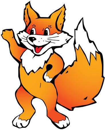 happy fox Vector