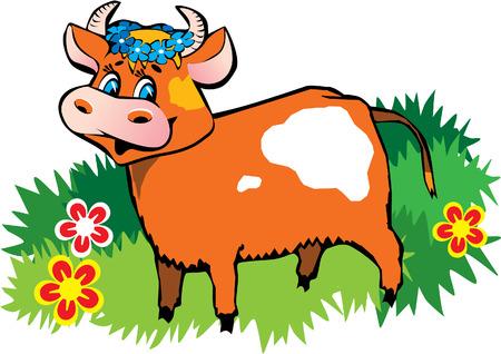 Happy friendly cow Vector