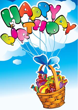 Happy birthday. Present Vector