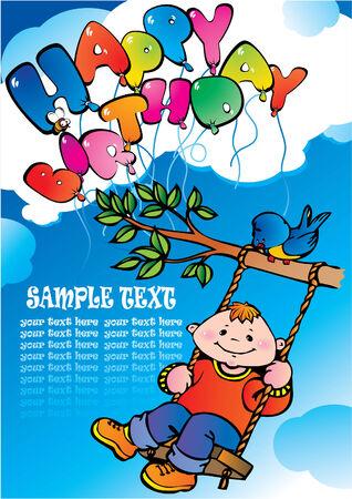 Happy birthday. Stock Vector - 4919364