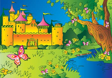 Fairy tale castle. Vector
