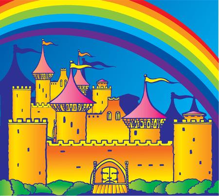 rainbow flag: Castle - Vector