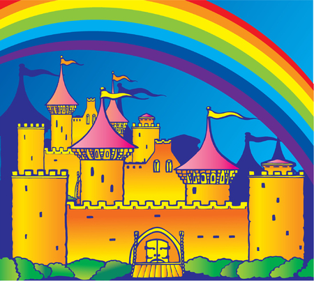 horror castle: Castle - Vector