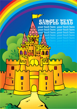 Castle Vector Illustration Vector