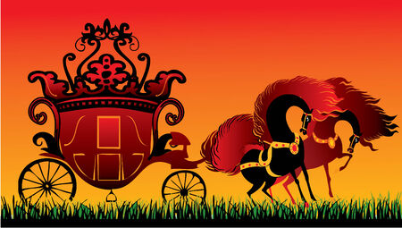 fairy tale carriage Stock Vector - 4927052