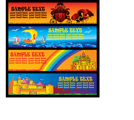 Fairy tale banners. Vector