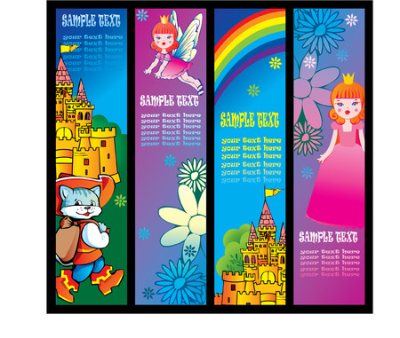 Fairy tale banners. Illustration