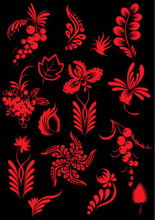 Floral collection. Vector