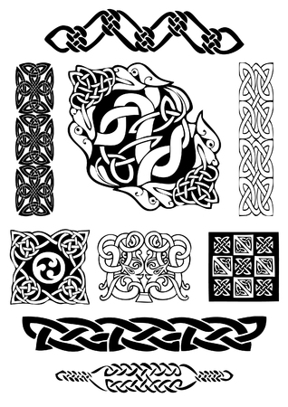 Celtic vector  art-collection on a white background. Illustration