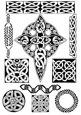 Celtic vector  art-collection on a white background. Stock Vector - 5374015