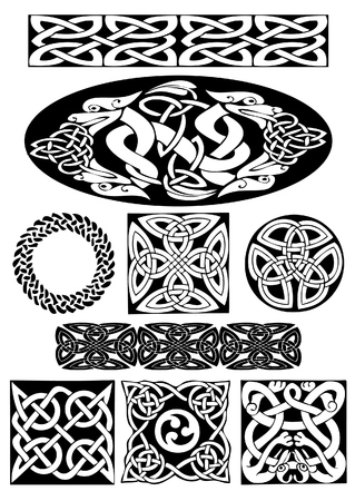 Celtic vector art-collection on a white background. Vector