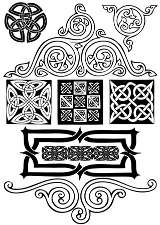 Celtic vector art-collection on a white background. Stock Vector - 5960434