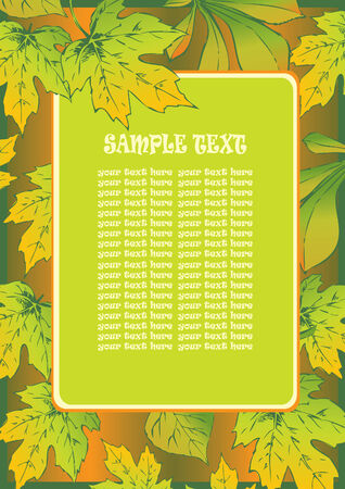Beautiful frame of autumn leaves. Place for sample text. Vector art-illustration. Vector