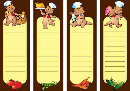 Cook restaurant menu. Vector art-illustration. Stock Vector - 6032866