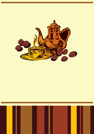Cafe menu template with place for sample text. Vector art-illustration. Vector