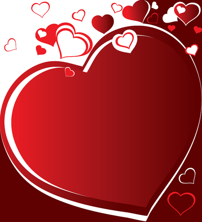 Heart. Greeting card for Valentines Day. Place for your text.  Vector