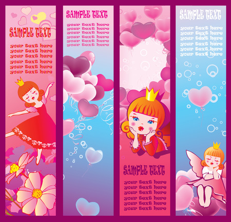 Valentines Day banners. Place for your text. Vector art-illustration. Vector