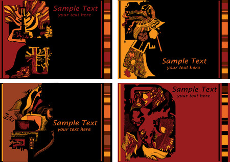 Abstract vector art-illustration on a brown and black background. Place for your text. Vector