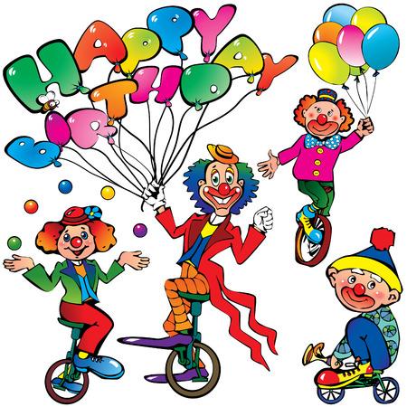 circus bike: Divertidos payasos