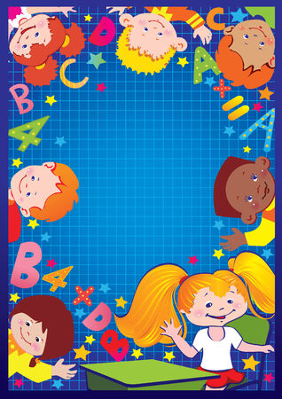 School childhood. Place for your text. art-illustration. Illustration