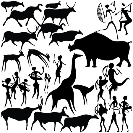 Cave painting Stock Vector - 7261082