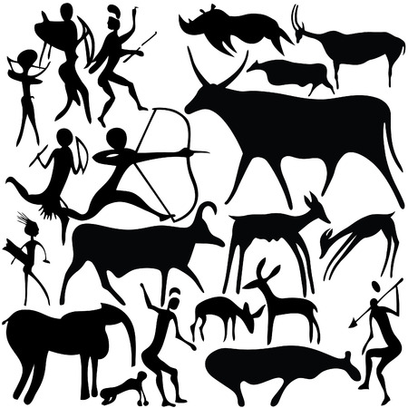 Cave painting Stock Vector - 7261084