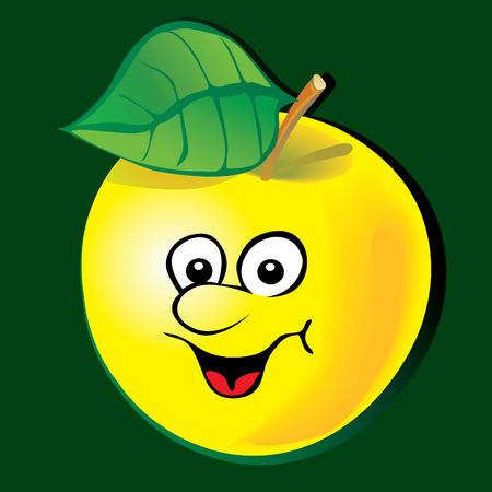 Manzana animado.  Foto de archivo - 7447792