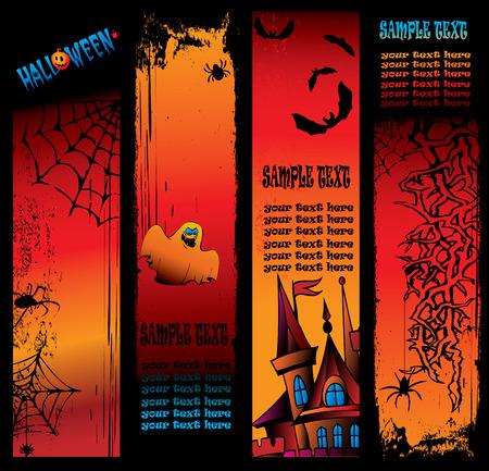 dreadful: Halloween  banner. Place for sample text. Vector art-illustration. Illustration