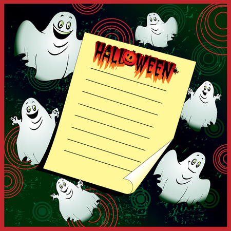 Halloween Invitation. Place for your text. Vector art-illustration. Stock Vector - 7869572